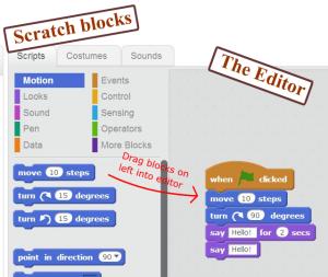 Scratch Blocks and editor