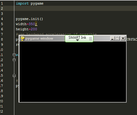 simple-pygame-window